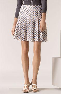 MARC JACOBS Geo Print Pleated Silk Skirt