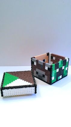 minecraft ornaments lava bucket Steve Santa torch