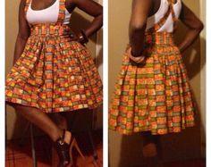 African print african peplum top african fabric by BurgundybyPK