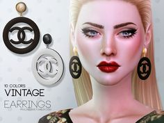 """sims4ccthebest: """"  Vintage Earrings by Pralinesims http://sims4ccthebest.blogspot.de/2017/01/vintage-earrings-by-pralinesims.html """""""