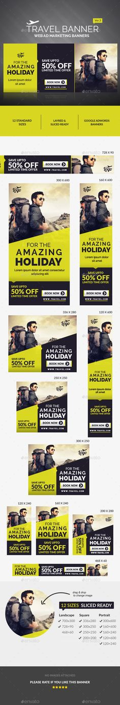 Travel Ad Banners Template PSD