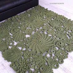 Текстиль, ковры ручной работы. Ярмарка Мастеров - ручная работа. Купить Ковер ажурный из трикотажной пряжи 160 на 160 см. Handmade.