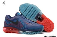 Nike Air Max 2014 Mens Shoes Ocean Blue Black For Wholesale