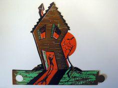 "1966 Beistle 'Haunted House' Halloween Favor-Ettes Decoration. Size: 8"""