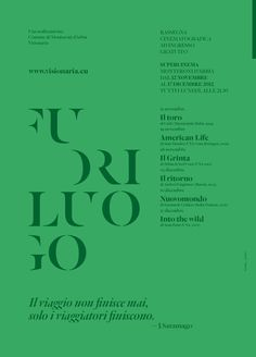 Fuoriluogo by Mimmo Manes, via Behance #canefantasma #typography #poster in Poster