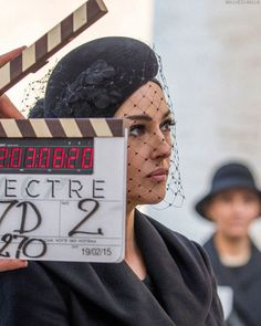 Monica Bellucci behind the scenes of Spectre (2015)