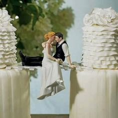 So romantic! I want to do this between the bride and grooms cakes.