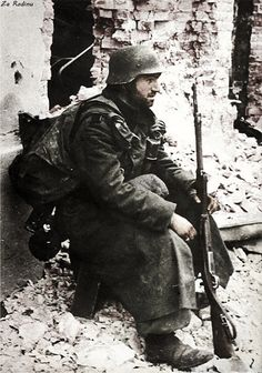 German soldier in Stalingrad 1942