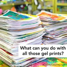 Using Your Gel Prints, online workshop with Carolyn Dube Atelier Photo, Gelli Plate Printing, Gelli Arts, Art Journal Techniques, Plate Art, Handmade Books, Art Journal Inspiration, Elementary Art, Making Ideas