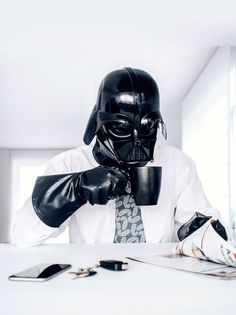 When Darth Vader isn't using the force to battle his own son or punish disobedient soldiers under his command, when he's not blowing up stars, and when he's not chasing rebels, he probably has a pretty mundane life. He has to wake up on time, get dressed, clean up and do certain chores around the Death