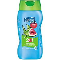 Suave Kids Wild Watermelon 2 in 1 Shampoo and Conditioner, 12 oz, Multicolor Conditioning Shampoo, Shampoo And Conditioner, Toddler Shampoo, Suave Shampoo, Disney Princess Dress Up, Best Shampoos, How To Make Hair, Smell Good, Cool Kids