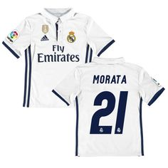 Morata Real Madrid adidas Youth 2016 17 Home World Cup Champions Patch  Replica Jersey - d02a61ee08203
