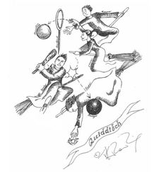 Check out this nuts diagram of Quidditch. | J.K. Rowling's Harry Potter Sketches…