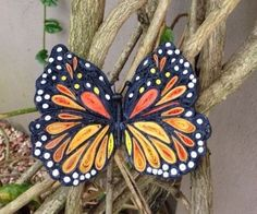 Aren't you always amazed at how beautiful butterflies are? Their vibrant colors so beautifully blended. Among these beautiful creation of God's I love the colors of the Monarch butterfly. It's so like the colors of the sun sOne day as I was looking at a picture of this butterfly I noticed the shapes so look like the pinched up shapes of paper quilling that I thought to try it. This quilled butterfly can never compare to the real thing, but then; I'm just human! and this is paper :-) For…