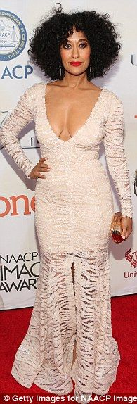 Strike a pose:Kerry Washington, Gabrielle Union and Tracee Ellis Ross broke the mould when it comes to classic black tie event dressing at theNAACP Image Awards in Pasadena, California, on Friday night
