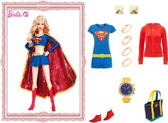 """Barbie: Supergirl"" by ealkhaldi ❤ liked on Polyvore"