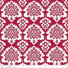 Lost & Found Love ~ Damask in red