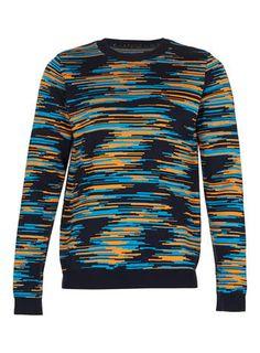 b3d7fd1716 Digital Pattern Knitted Sweater Men's Cardigans, Sweaters, Digital Pattern,  Mens Jumpers, Knitwear