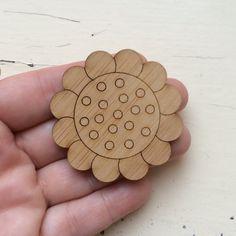 Big Dotty Daisy Bloom Laser Cut Wooden Supplies by CraftyCutsLaser