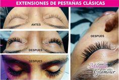 Extensiones de pestañas clásicas con aspecto natural #miradaglamour #ExtensionesDePestañas