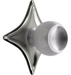 Put this Hardware on the Ikea Cabinets. Saturn Cabinet Knob with Star Backplate Die-cast Zinc, Stamped Brass