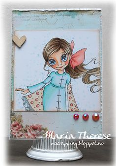 Saturated Canary - Fly Girl   Card by Maria Therese