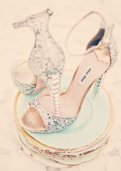 Cinderella Wedding Shoes! . This is my dream come true. #dreamcometrue