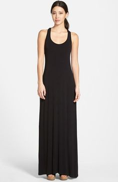 Caslon® Racerback Maxi Tank Dress (Regular & Petite) | Nordstrom