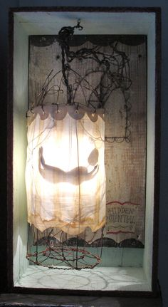 Hidden Potential Lighted Sculpture by homemadecircus on etsy 350.00 dollars