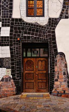 Art design: Doorvintage black tile design Doors entrance