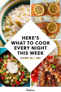 With a little bit of planning and a trip to the grocery store, you can make a week of dinners that are both effortless and delicious. #dinner #recipes #easy Summer Vegetarian Recipes, Delicious Dinner Recipes, Cauliflower Pasta, Pesto Dressing, Cooking Time, What's Cooking, Easy Meals, Simple Meals, Recipe Please