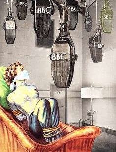 """""""and now on Radio 4 it's time for Woman's Hour""""    Collage By Bob May aka recombiner"""