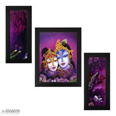 Checkout this latest Religious Paintings & frames Product Name: *Decorative Wall Paintings Without Glass* Pack: Pack of 3 Country of Origin: India Easy Returns Available In Case Of Any Issue   Catalog Rating: ★3.9 (215)  Catalog Name: Trendy Decorative Wall Paintings Without Glass Vol 12 CatalogID_734050 C128-SC1316 Code: 223-5002038-756