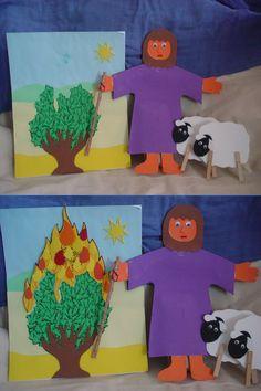 Moses, burning bush