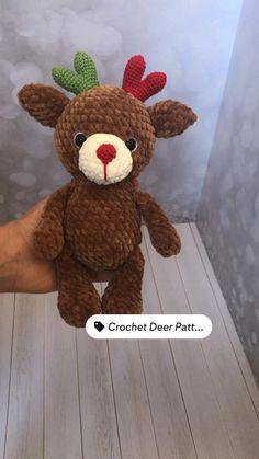 Crochet Toys Patterns, Amigurumi Patterns, Stuffed Toys Patterns, Learn To Crochet, Diy Crochet, Handmade Stuffed Animals, Amigurumi Tutorial, Amigurumi Toys, Crochet For Beginners