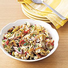 30 Recipes for Summer Pasta Salads   Artichoke and Sun-Dried Tomato Pasta Salad   MyRecipes.com