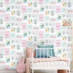 HOLDEN DECOR KIDS WALLPAPER RAINBOWS AND FLYING KITES PINK 91021