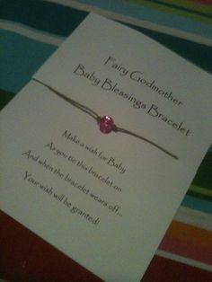 Puppy Love Preschool: Fairy Godmother Baby Shower Blessings Bracelets