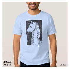 Sold! Thank you to the customer and enjoy! Llama Men's T-Shirt; ArtisanAbigail at Zazzle