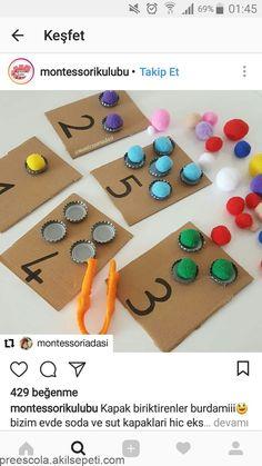 Bonne idée de trier par couleur. Peut utiliser des bouchons en plastique pour les petits enfants. de cette façon tout b ... - #Bonne #bouchons #cette #couleur #de #des #En #enfants #façon #idée #les #par #petits #peut #plastique #pour #tout #Trier #Utiliser