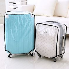 Fashion Waterproof Dustproof Rain Cover Clear Luggage Cover Travel Luggage Suitcase Cover 4 Size 20-28 Inch 63366