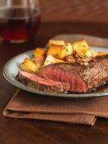 marinated chuck steak recipe--absolutely the easiest and most delicious chuck recipe ever.  I added garlic powder.  I can't say enough about how well this turned out!