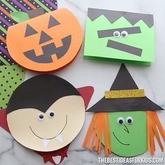 Halloween Cards - So Many Cute Halloween Card Ideas Click * halloween-karten - so viele nette halloween-karten-ideen klicken sie * * Wood thanksgiving art, Digital thanksgiving art, Food thanksgiving art Halloween Arts And Crafts, Halloween Decorations For Kids, Halloween Crafts For Toddlers, Halloween Party Decor, Halloween Fun, Handmade Halloween Cards, Couple Halloween, Halloween Design, Holiday Crafts