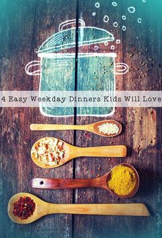 4 Easy Weekday Dinners Kids Will Love, simple and tasty ideas Kid Friendly Dinner, Kid Friendly Meals, Easy Healthy Dinners, Healthy Dinner Recipes, Easy Dinners, Cake Decorating For Kids, Roast Dinner, Healthy Eating For Kids, Eat To Live