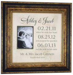 Personalized Picture Frame Special Dates by PhotoFrameOriginals, $89.00