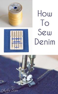 Sewing Tip: Awesome tips for sewing with denim, and any thick fabric. Part of jeans sew along