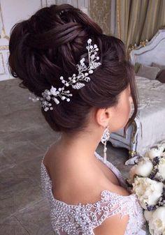 Long wedding updos and hairstyles from Elstile  #wedding #bridal #weddinghairtstyle #bridalhairstyle #weddingupdo  http://www.deerpearlflowers.com/new-long-wedding-hairstyles-updos/