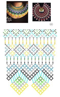 Natali Khovalko | VK Diy Necklace Patterns, Beaded Jewelry Patterns, Beading Patterns Free, Beading Tutorials, Bead Loom Bracelets, Beaded Crafts, Handmade Beads, Beads And Wire, Bead Crochet