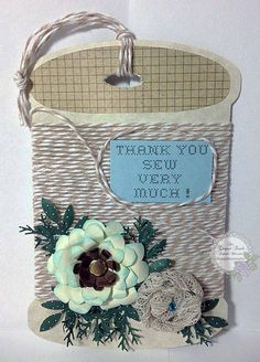 An Elegant Touch...: Tag: Twine - Thank You SEW very much!