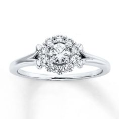 A simple, affordable engagement ring - see more here